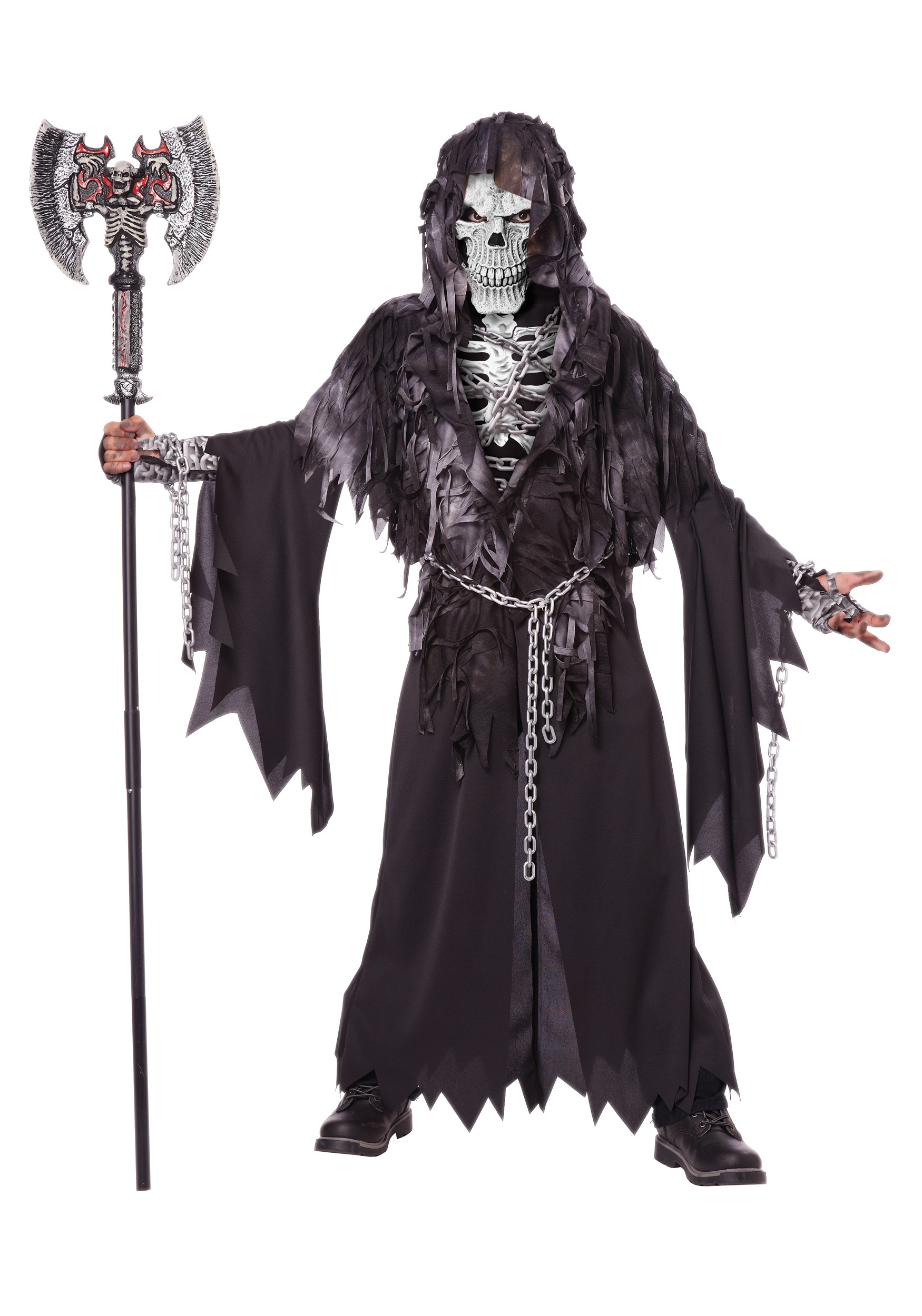 Childu0027s Evil Unchained Skeleton Costume  sc 1 st  Halloween Costumes : evil halloween costume  - Germanpascual.Com