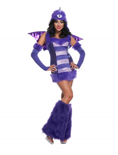 Sexy One Eyed One Horn Flying Purple People Eater Costume buy now