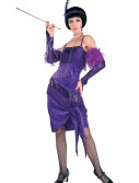 Fabulous Purple Flapper Costume buy now