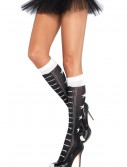 Faux Lace Up Athletic Socks buy now