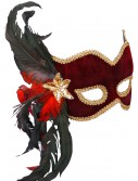 Female Masquerade Maroon Mask buy now