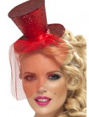 Fever Red Glitter Mini Top Hat buy now