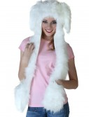 Floppy Ear White Rabbit Hat w/Mittens buy now