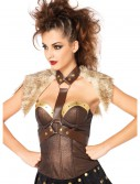 Fur Pelt Faux Leather Body Harness buy now
