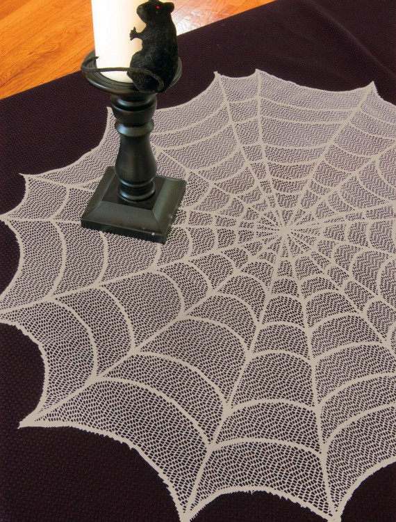 Ghostly Gray Round Table Topper buy now