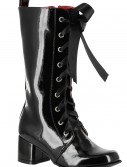 Girls Black Lace Up Gogo Boots buy now