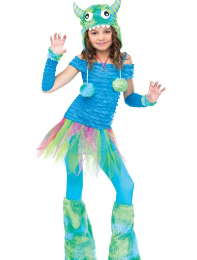 Girls Blue Beastie Monster Costume buy now