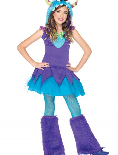 Girls Cross Eyed Carlie Monster Costume buy now