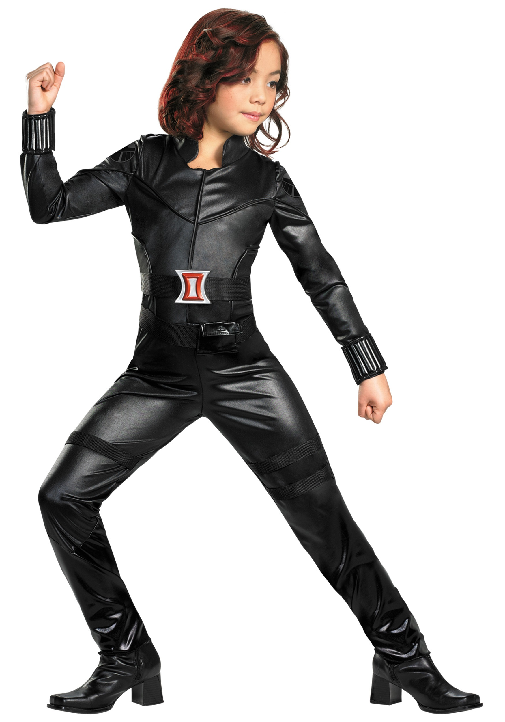girls deluxe black widow costume