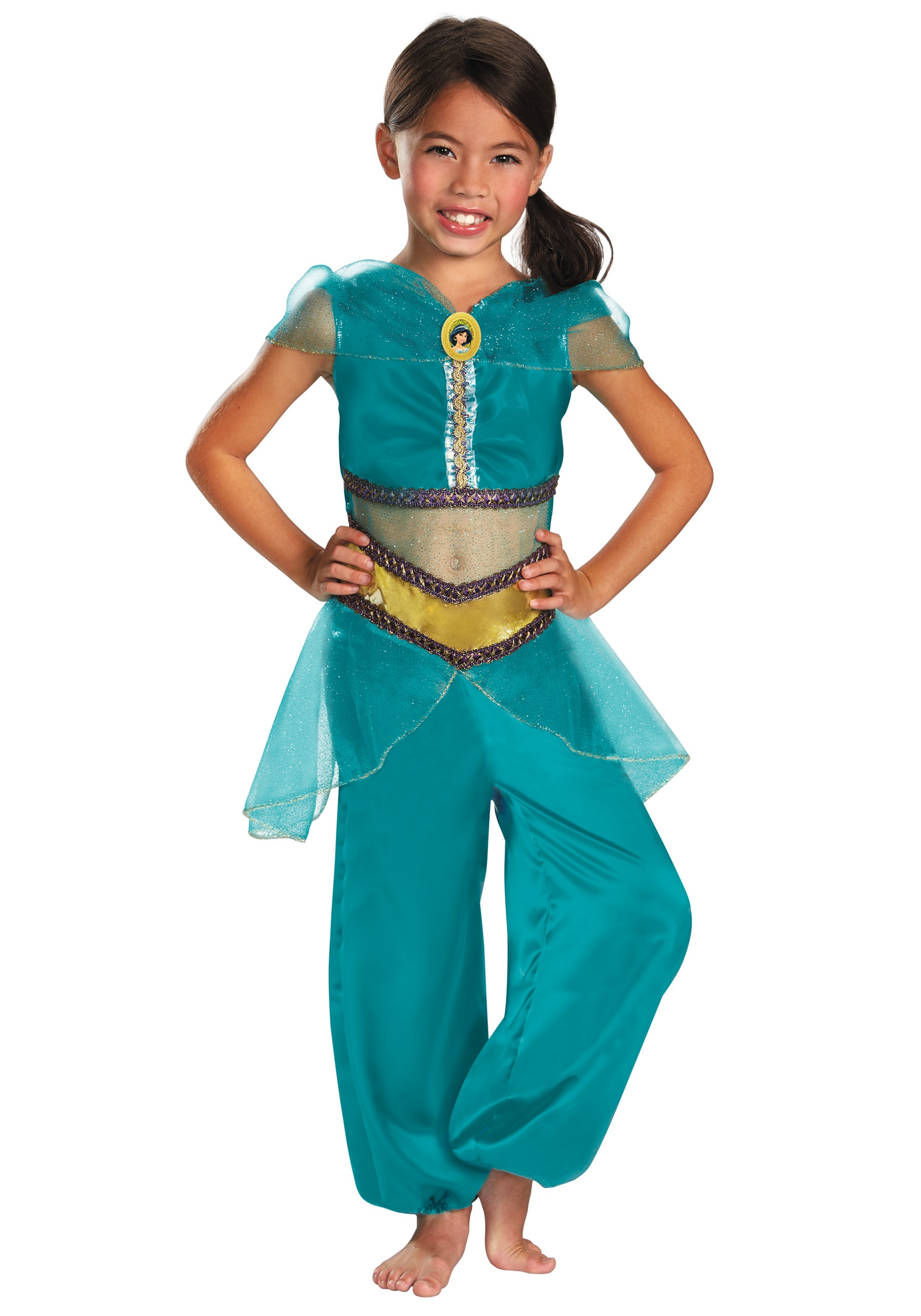 Girls Jasmine Sparkle Classic Costume  sc 1 st  Halloween Costumes & Girls Jasmine Sparkle Classic Costume - Halloween Costumes