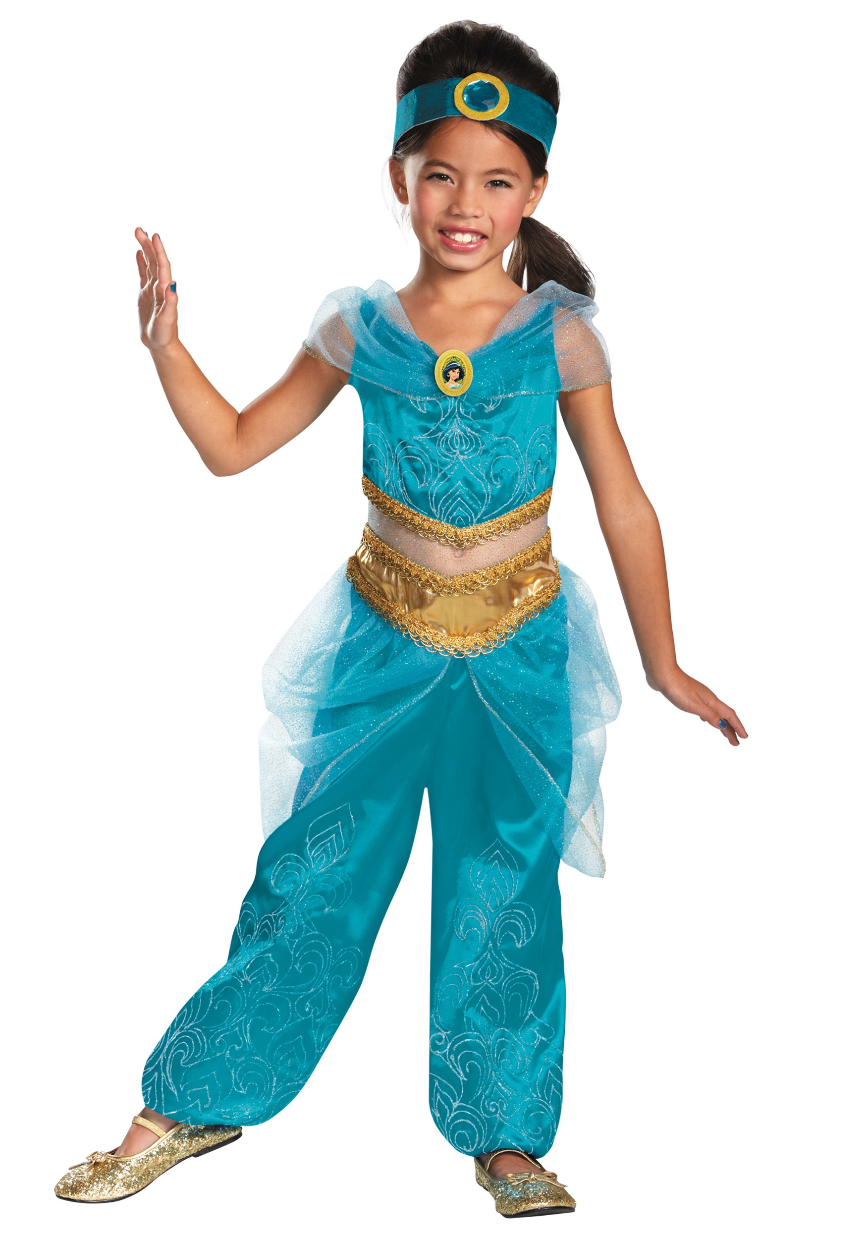 Girls Jasmine Sparkle Deluxe Costume  sc 1 st  Halloween Costumes & Girls Jasmine Sparkle Deluxe Costume - Halloween Costumes