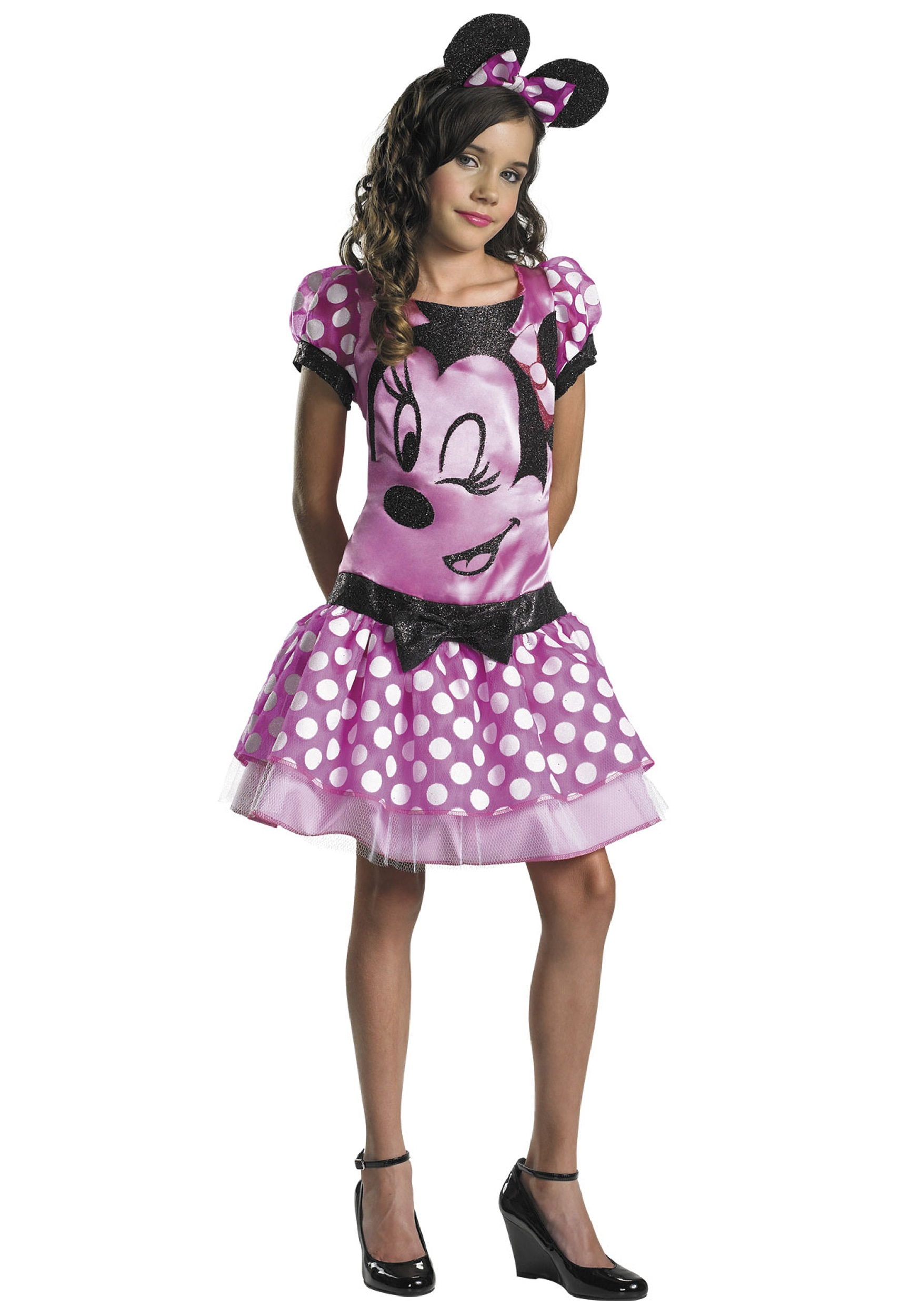 Girls Pink Minnie Mouse Costume  sc 1 st  Halloween Costumes & Girls Pink Minnie Mouse Costume - Halloween Costumes