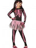 Girls Pink Punk Skeleton Costume buy now