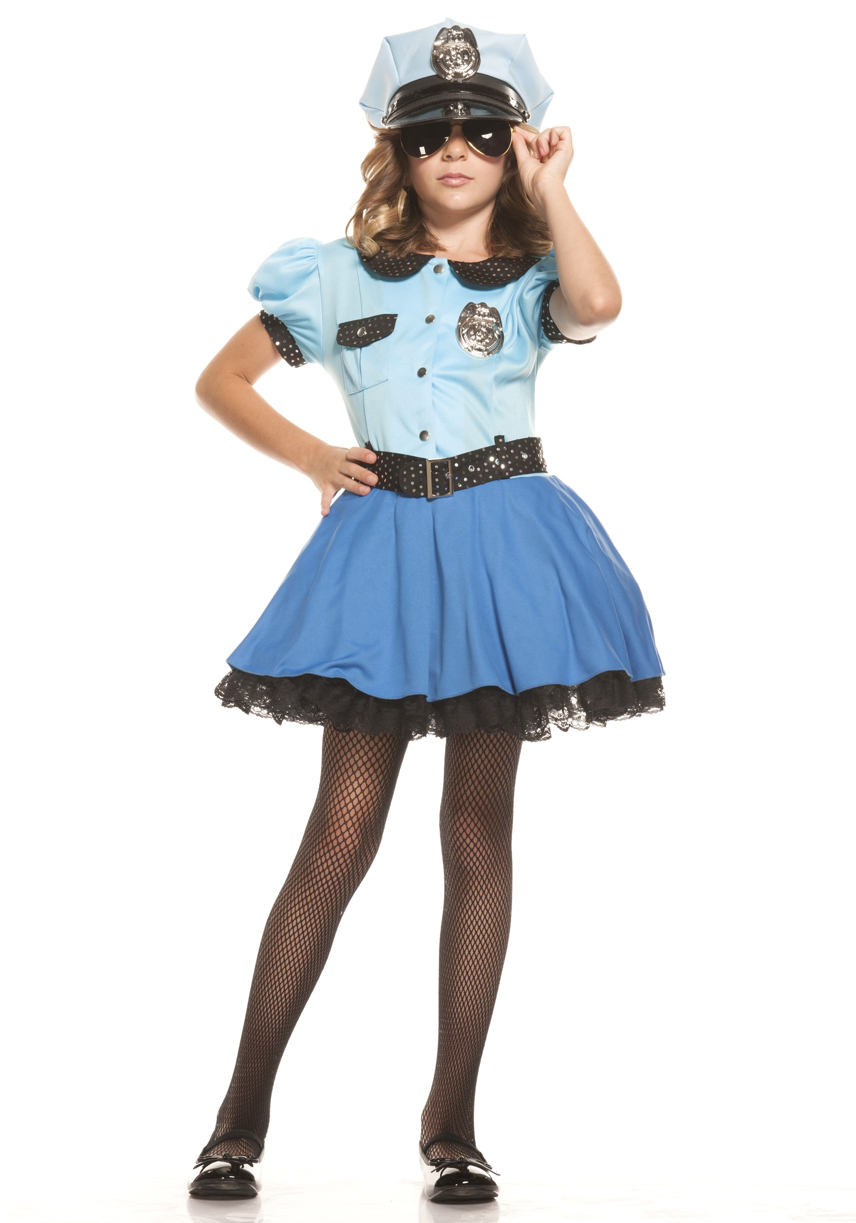 Girls Police Uniform Costume  sc 1 st  Halloween Costumes & Girls Police Uniform Costume - Halloween Costumes