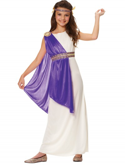 Girls Purple Roman Empress Costume buy now