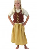 Girls Red Peasant Dress buy now