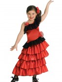 Girls Spanish Flamenco Dancer Costume buy now