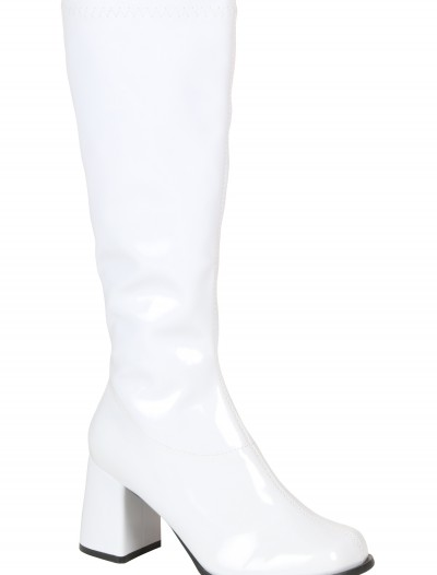 Girls White Gogo Boots buy now