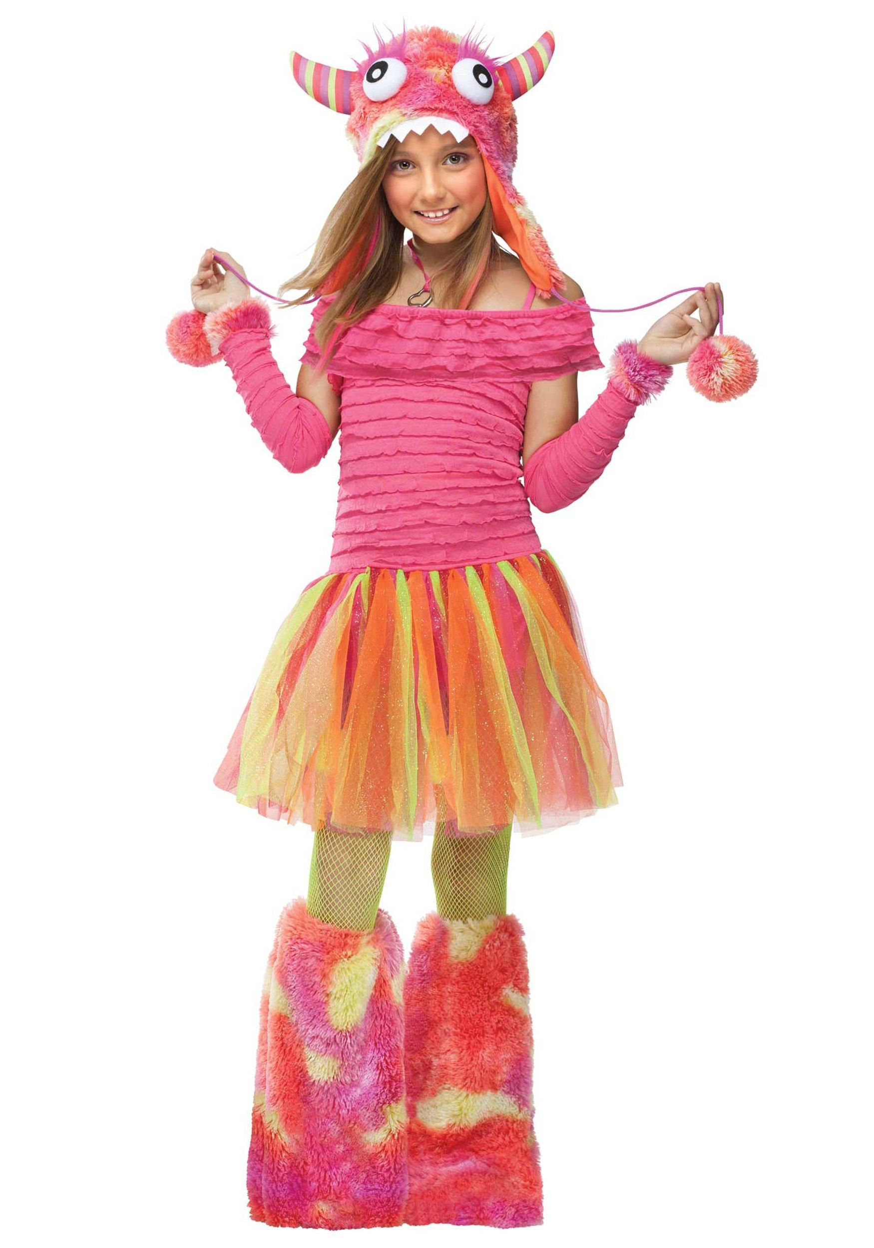 girls wild child monster costume - halloween costumes