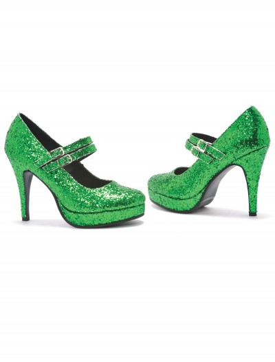 Green Glitter Shoes buy now