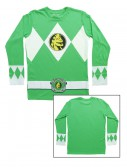 Green Power Rangers Long Sleeve Costume Shirt buy now