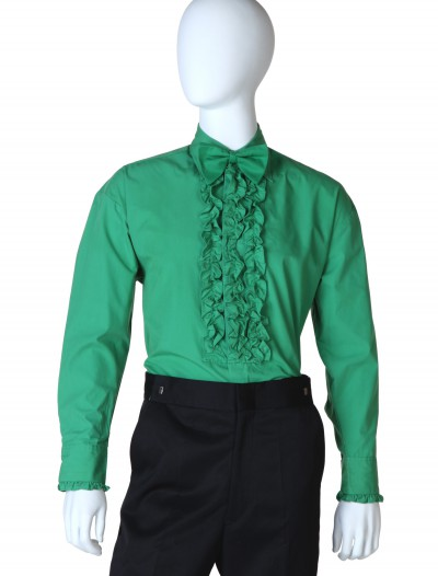 Green Ruffled Tuxedo Shirt buy now