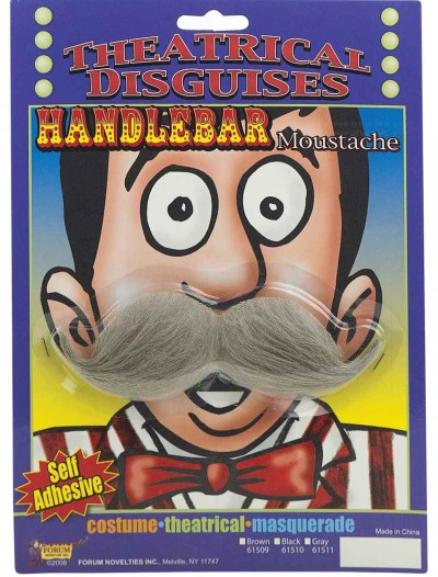 Grey Handlebar Mustache buy now