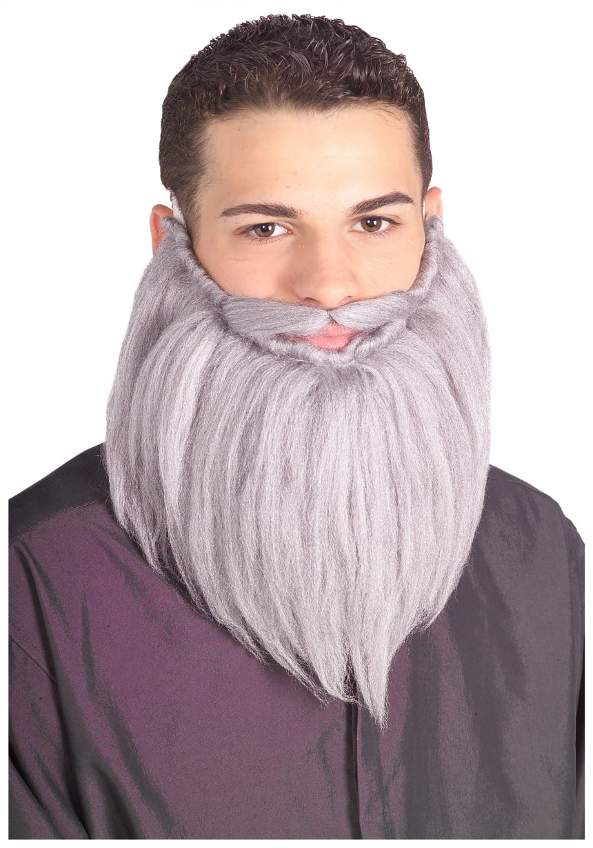 grey wizard beard and mustache - halloween costumes
