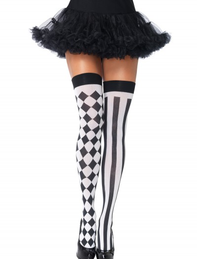 Harlequin Thigh High Stockings buy now