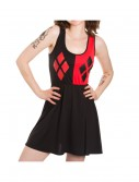 Harley Quinn Scoop Neck Black Dress buy now