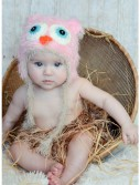 Infant Pink Yarn Owl Hat buy now