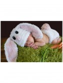 Infant White Bunny Hat and Diaper Cover buy now