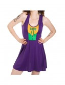 Joker Scoop Neck Purple Dress buy now