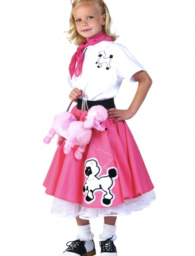 Kids Deluxe Pink Poodle Skirt Costume buy now