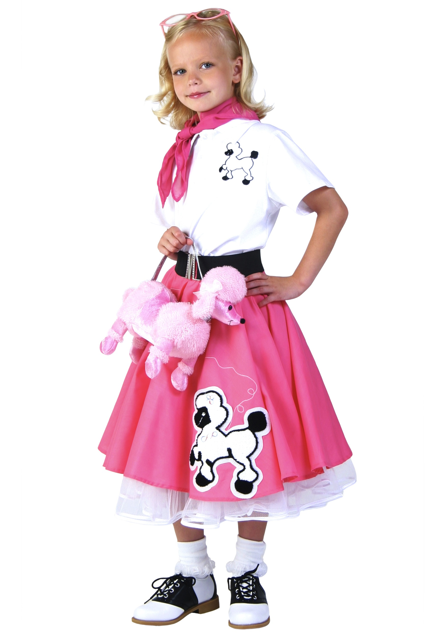 bd26545ead 50s Costume Girls & Kids Deluxe Pink Poodle Skirt Costume Sc 1 St ...