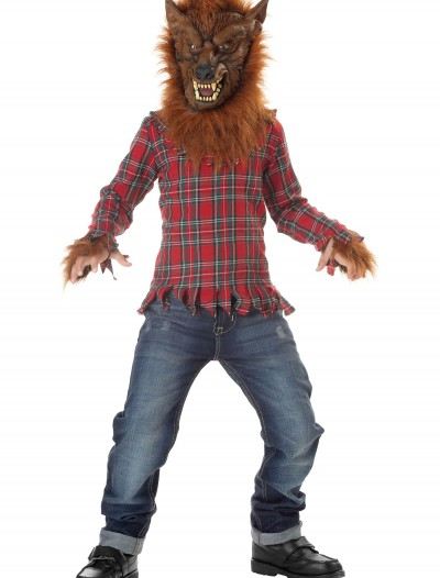 Kids Deluxe Red Werewolf Costume buy now