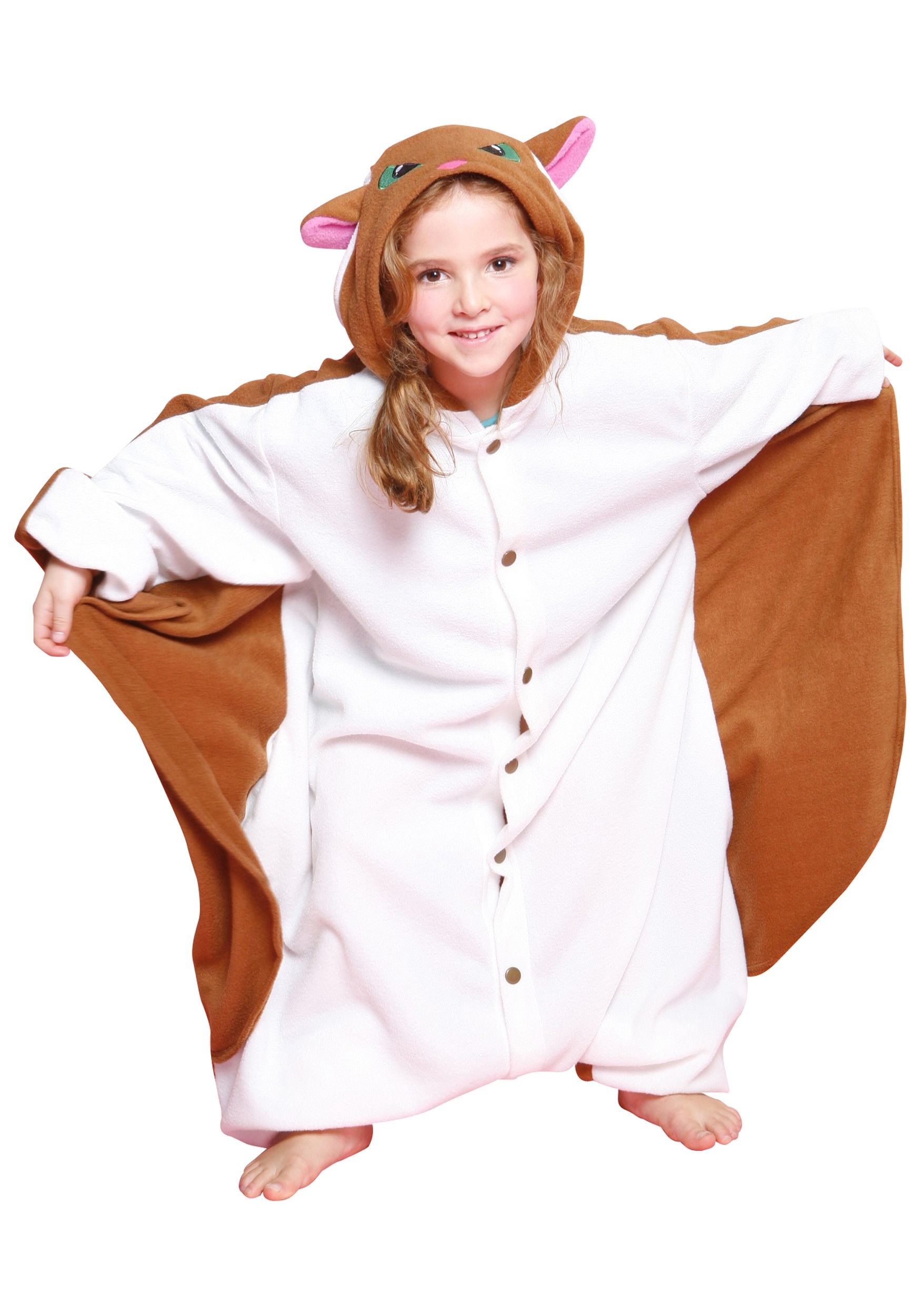 kids flying squirrel pajama costume