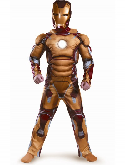 Kids Iron Man Mark 42 Muscle Light Up Costume buy now