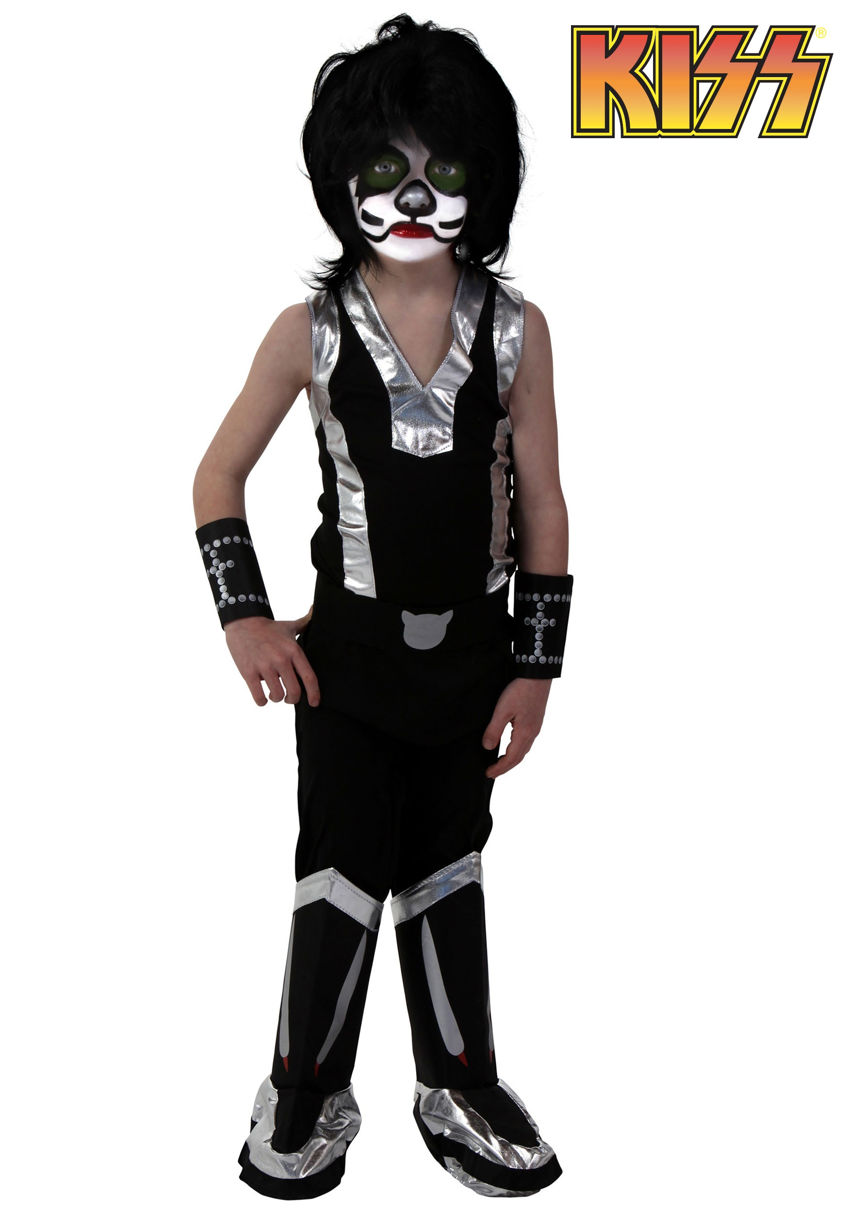 Kids Screenprint KISS Catman Costume - Halloween Costumes