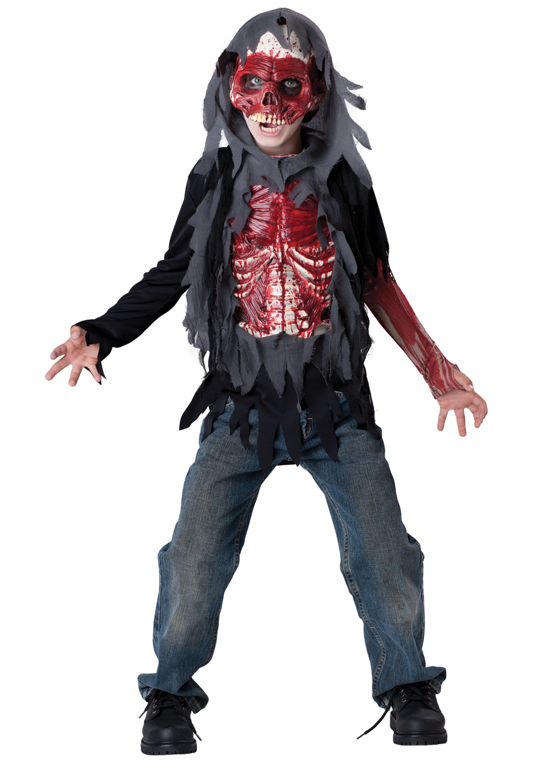Kids Skinned Alive Zombie Costume Halloween Costumes