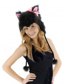 Kitty Hoodie Hat Black buy now