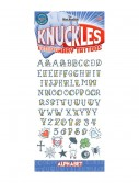 Knuckle Alphabet Temporary Tattoos buy now