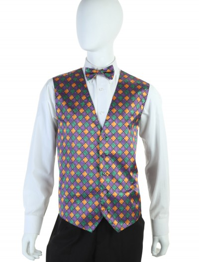 Mardi Gras Vest and Tie Set buy now