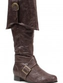 Mens Brown Buckle Pirate Boots buy now