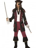 Mens Burgundy Pirate Costume buy now