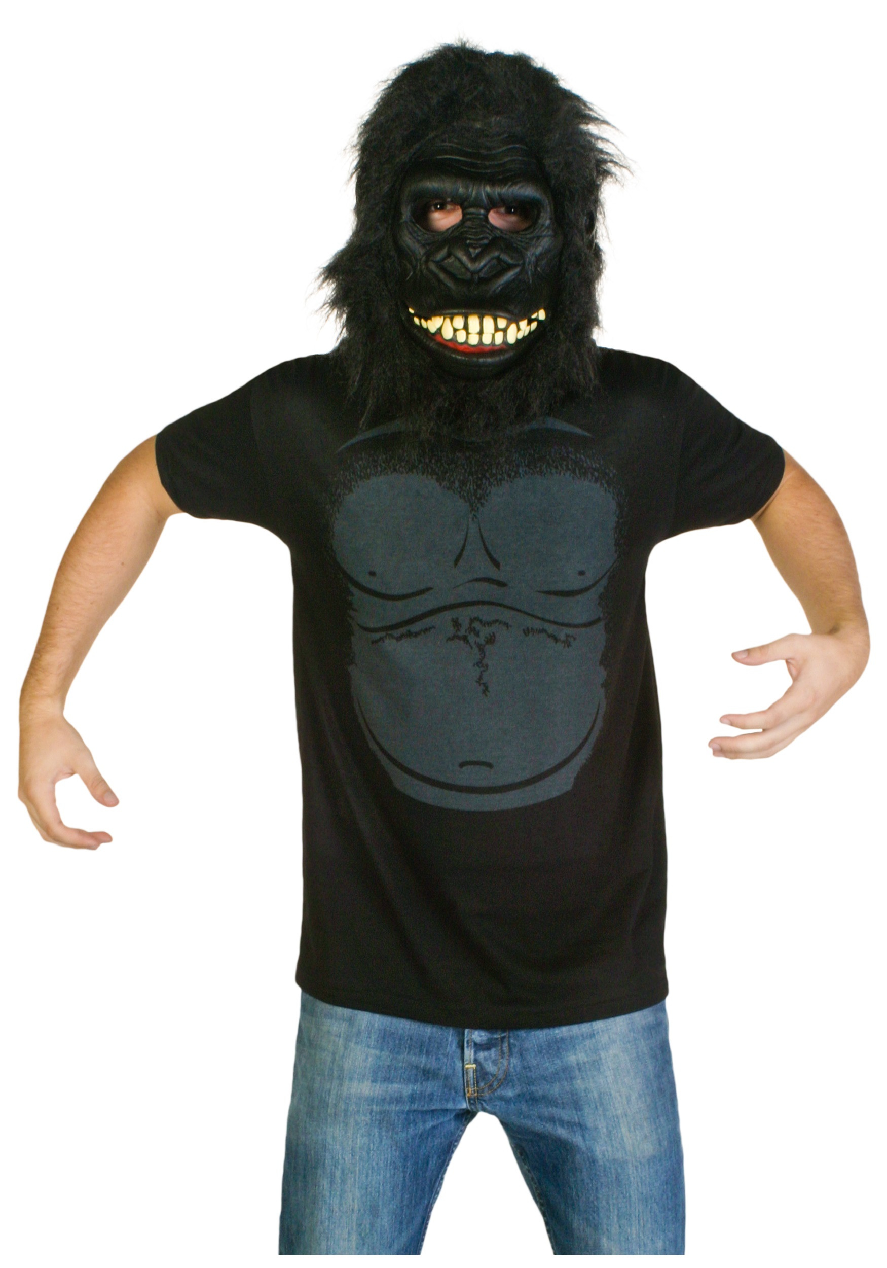 mens gorilla costume t shirt