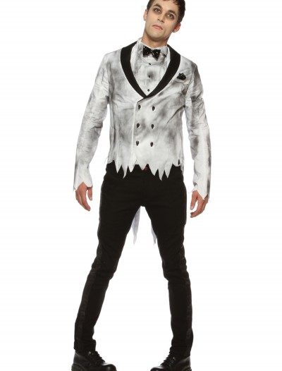Mens Plus Size Zombie Groom Costume buy now