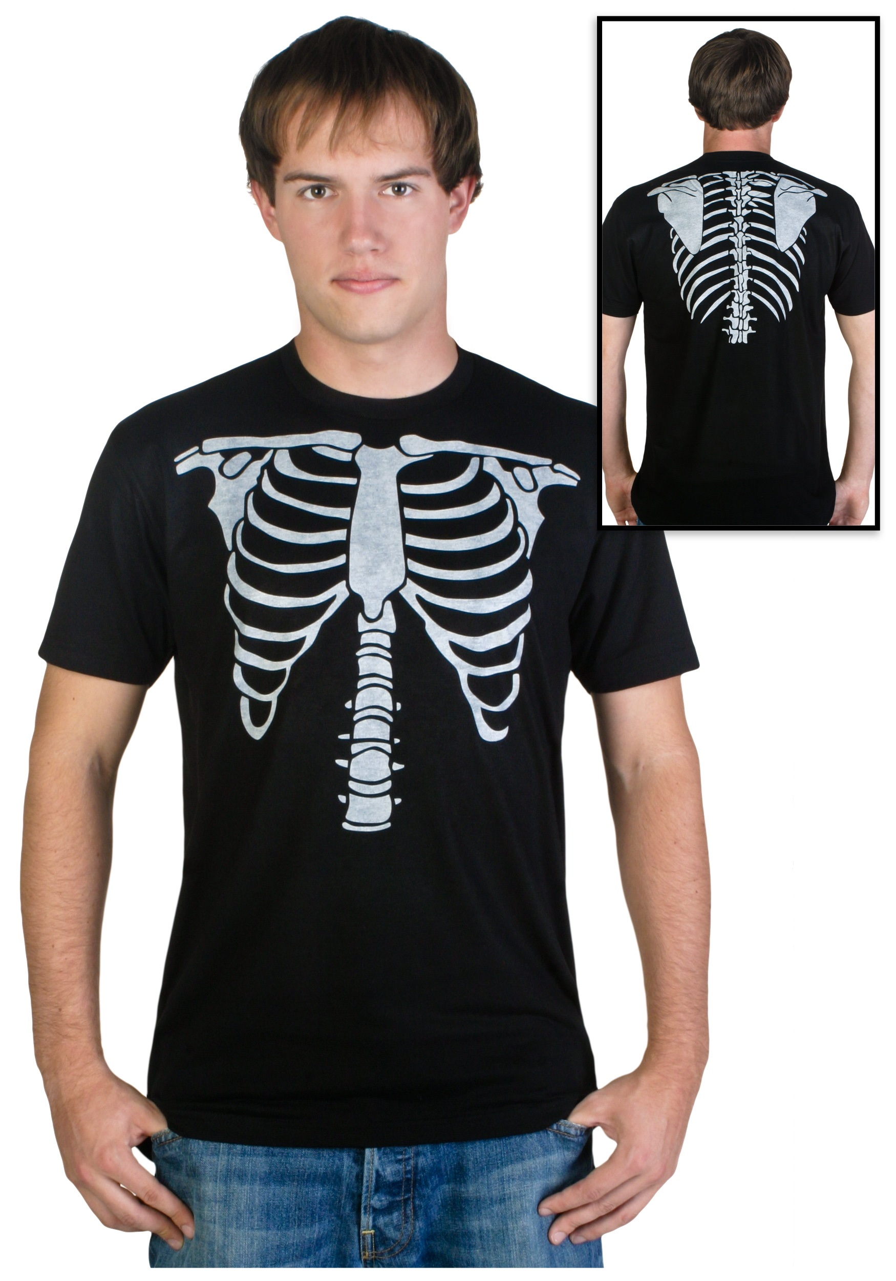 Mens Skeleton Costume T-Shirt  sc 1 st  Halloween Costumes & Mens Skeleton Costume T-Shirt - Halloween Costumes