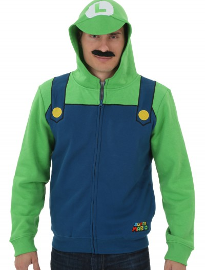 Mens Super Mario Luigi Hoodie buy now
