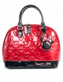 Mickey and Minnie Red and Black Patent Embossed Bag buy now